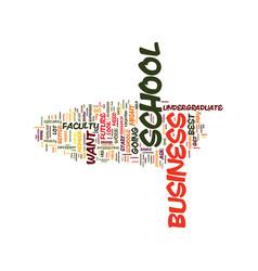 Best undergraduate business schools text vector
