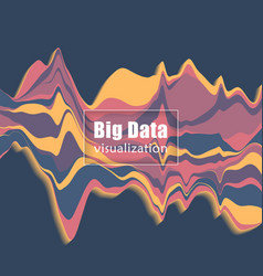 big data visualization stream graph vector image