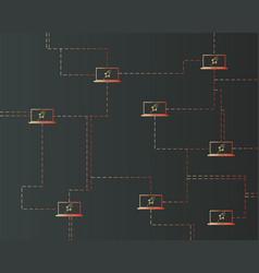 Blockchain stellar network style background vector