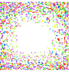 bright childish merry colorful confetti background vector image