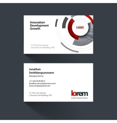 business card template with particles vector image
