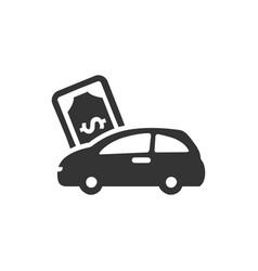 Car loan icon vector