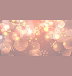 christmas banner with snowflakes and bokeh lights vector image