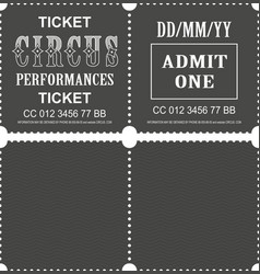 Circus ticket vector