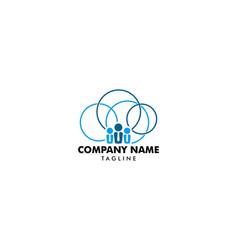 cloud job logo icon design vector image