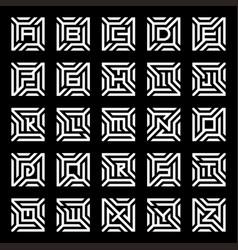 Collection logo design maze alphabet vector