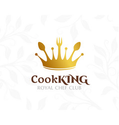 cook king logo restaurant or cafe icon vector image