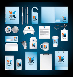 corporate identity template design with color vector image
