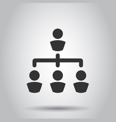 corporate organization chart with business people vector image