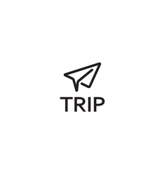 creative paper jet airplane logo symbol vector image