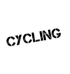 Cycling rubber stamp vector