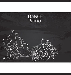 dance line chalk pointe vector image