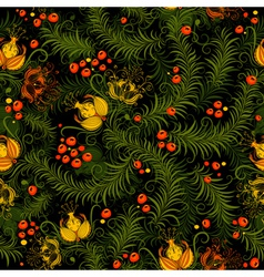 dark floral seamless pattern vector image