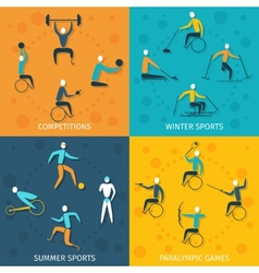 Disabled Sports Set vector