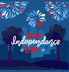 festive background for usa independence day vector image