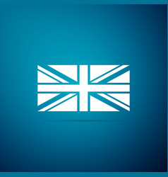 flag of great britain icon on blue background vector image