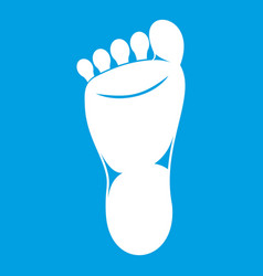 foot left leg icon white vector image