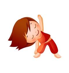 Girl Exercising vector