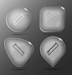 Hacksaw Glass buttons vector image