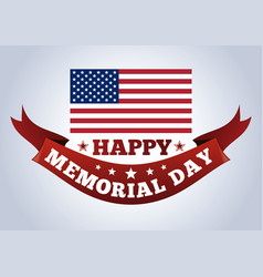 happy memorial day concept vector image