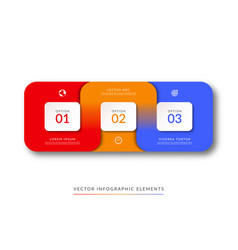 Infographic template of 3 connected parts vector