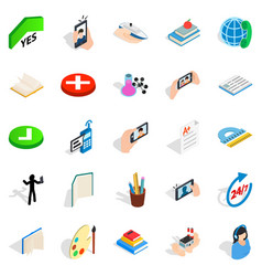 Interlocution icons set isometric style vector