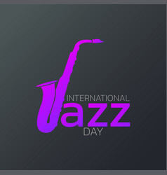 international jazz day logo icon design vector image