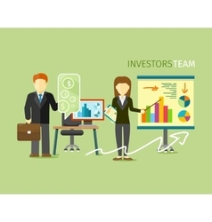 Investors Team People Group Flat Style vector