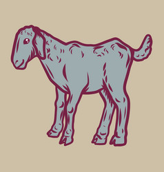 kid goat icon hand drawn style vector image