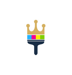 king paint logo icon design vector image