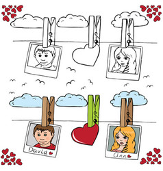 love 6 vector image