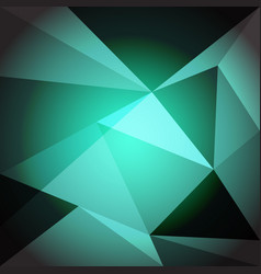 Low poly design element on green gradient vector