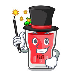 Magician strawberry mojito mascot cartoon vector