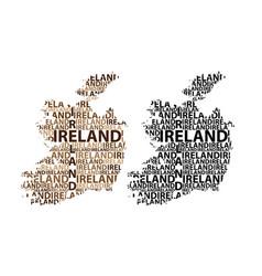 map of ireland vector image