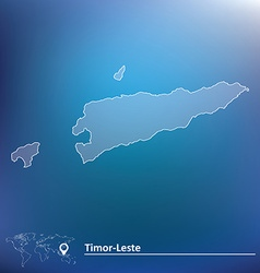 Map of Timor-Leste vector image