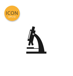 microscope icon isolated flat style vector image