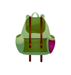 modern practical backpack with extra pockets roomy vector image
