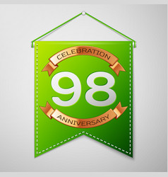 Ninety eight years anniversary celebration design vector