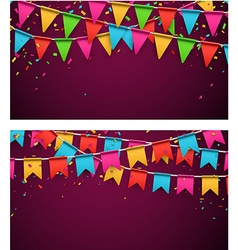 Party celebration backgrounds vector image