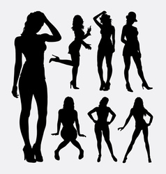 People sexy female silhouette vector
