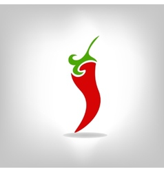 pepper isolated on light background vector image