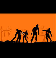 picture zombies vector image