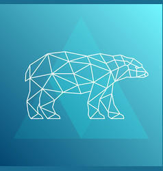 polar bear side view geometric style vector image