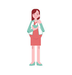 pregnant woman eating - young vector image