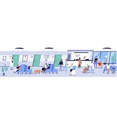 Reception area medical center or hospital vector
