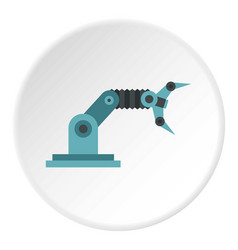Robotic arm icon circle vector