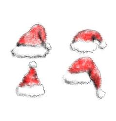 santa claus abstract hat vector image