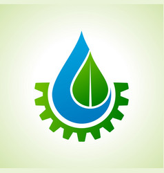 save nature and go green concept with eco gear vector image