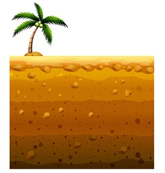 Seamless underground and coconut tree vector image