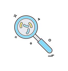 search virus icon design vector image